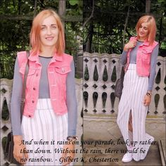 quote, long dress, pink hair