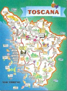 Tourist Map of Toscana (Tuscany) Italy Vacation, Italy Travel, Pisa, Tuscany Map, Tourist Map, Under The Tuscan Sun, Reisen In Europa, Leaving Home, Visit Italy