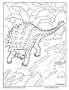 Dinosaur Colouring page.... Coloring booth? Or we could make mini coloring books as favors!