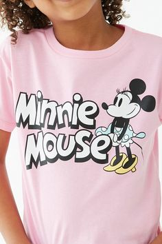 Product Name:Girls Minnie Mouse Tee (Kids), Category:girls_tops, Cotton Logo, Ringer Tee, New Print, Band Tees, Pink Girl, Kids Girls, Minnie Mouse, Graphic Tees, Forever 21
