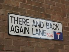 """""""There And Back Again Lane, near Berkeley Square, Bristol, South West England""""   [Photo by Eifion - October 16 2010 - Bristol, England, United Kingdom]'h4d'"""