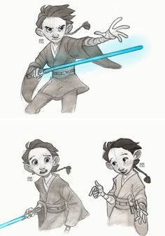 """""""It was in his very early years that  Ben Solo started to feel Snoke's influence and there was no safeguard against that and that's why he fell so swiftly and easily into the Dark Side""""."""