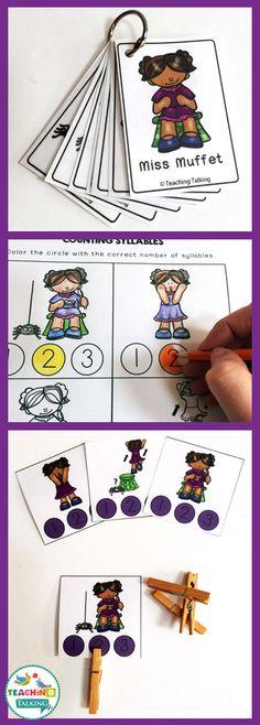 Nursery Rhyme Activity Pack - Little Miss Muffet Theme by teachingtalking.com