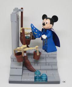 Lego Mickey Mouse Minifigures Vignette 8x8 Fantasia