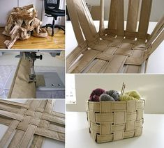 easi diy, diy ideas, recycling, crafti, diy crafts, recycl paper, paper basket, papers, baskets