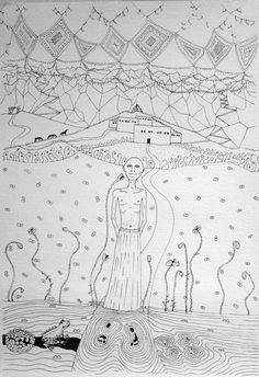 ladakhi monk  mnutz 2012 Pen Drawings, Black And White, Paper, Art, Art Background, Black N White, Black White, Kunst, Performing Arts