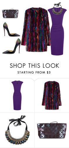 """""""#purple dress"""" by andrea-jones-4 ❤ liked on Polyvore featuring Christian Louboutin, HotSquash, Diane Von Furstenberg and Bao Bao by Issey Miyake"""