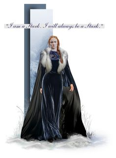 """""""Lady Sansa Stark"""" by sylviamccordle ❤ liked on Polyvore featuring art"""