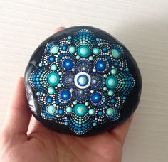 Garden Ornaments – Big Dot Art Mandala Painted Rock - Fairy Garden – a unique product by CreateAndCherish on DaWanda
