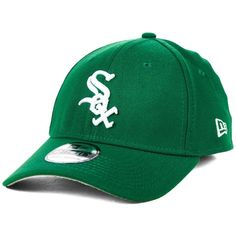New Era Chicago White Sox St. Patty Classic 39THIRTY Cap ($30) ❤ liked on Polyvore featuring men's fashion, men's accessories, men's hats, kelly green and mens caps and hats