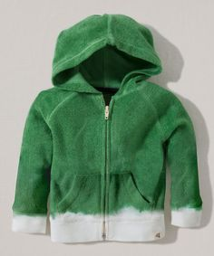 Look what I found on #zulily! Grass Ombré Organic Zip-Up Hoodie - Toddler #zulilyfinds