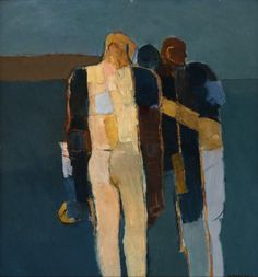 Keith Vaughan Three Figures, oil on board, 1960, 43 x 40.5cm
