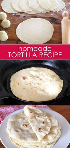 A simple, budget friendly homemade tortilla recipe that makes a perfect addition to Taco Tuesday! A simple, budget friendly homemade tortilla recipe that makes a perfect addition to Taco Tuesday! Recipes With Flour Tortillas, How To Make Tortillas, Homemade Flour Tortillas, Tortilla Recipe With Oil, Making Tortillas, Mexican Dishes, Mexican Food Recipes, Mexican Desserts, Vegan Recipes