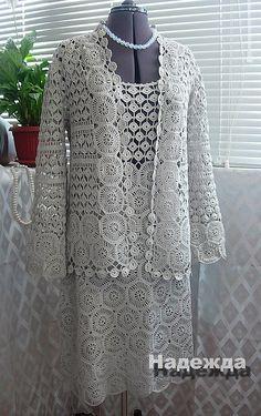 Chic Dress & Cardigan free crochet pattern