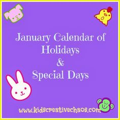 Free Printable January Calendar: 15 Obscure, unusual, or unique holidays in January, plus a few of the usual ones too. Plan your classroom activities or crafts around these special days. Valentine Day Crafts, Holiday Crafts, Holiday Fun, Valentines, Party Activities, Classroom Activities, Preschool Scavenger Hunt, Scavenger Hunts, Holidays In January