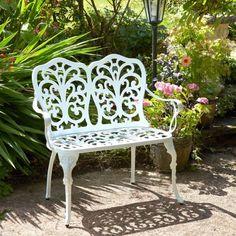 Brundle Gardener -  Aluminium Bench - White