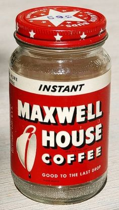 """Maxwell House was once the bestselling coffee brand in the United States. I remember my parents drinking it though it was a more expensive brand I believe it was deemed worth the extra cost because, """" It was  Good To The Last Drop."""" #coffee #maxwellhouse"""
