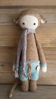 RADA the rat made ny Els van Sch. / crochet pattern by lalylala with Scheepjeswol Stone Washed