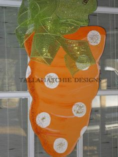 Easter Carrot Door Hanger Easter Door Wreath Carrot Door Hanger