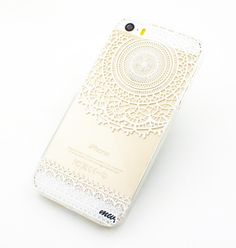 "Clear Plastic Case Cover for iPhone 6 (4.7"") Mandala Sun Lace tribal vintage mayan aztec  floral from milkyway $15"