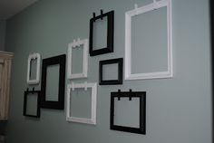 Perfect way to display kids art work. Adorable wall frames #crafts #picture frames http://moresisterstuff.blogspot.com/