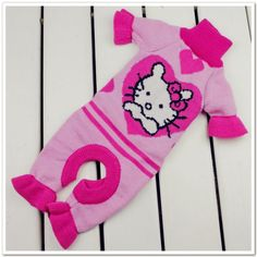 Hello kitty designer Dog clothes pet apparel high quality clothing sweater for dogs tracksuit pink color Free Shipping-in Dog Clothing from ...