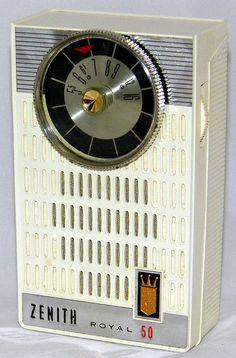 Vintage Zenith Royal 50 Transistor Radio, Made In USA, Circa 1962.