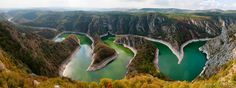 Uvac River Canyon. Located in southwest Serbia.