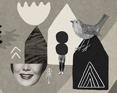 Totem / Fine Art Print / Poster / Collage / A4 by MathildeAubier
