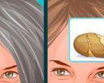 Con il metodo della buccia di patata si eliminano per sempre i capelli grigi: efficace dopo pochi minuti