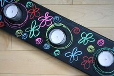 Chalkboard Candelabra