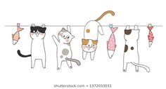 Pet accessories cute cat doodles, cute cats and kittens funny, cute cat names, cute cat sketch, cu Cute Cat Names, Funny Cute Cats, Cute Cat Gif, Cute Cats And Kittens, Gato Doodle, Doodle Cartoon, Illustration Mignonne, Cute Cat Illustration, Cute Cat Drawing