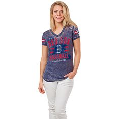 Boston Red Sox Women's Burnout T-Shirt by 5th