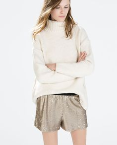 Image 2 of SEQUINNED SHORTS from Zara
