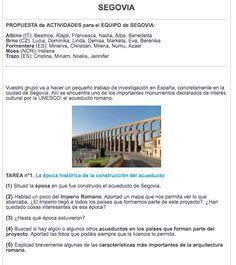 Actividades sobre Segovia