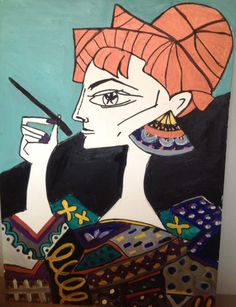 Painted by myself and inspired by Picasso's portraits