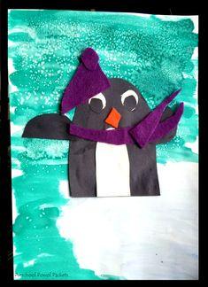 Penguin Art Project! Perfect for preschool, kindergarten, and elementary students!