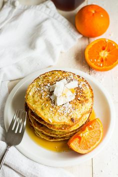 Quinoa, Coconut & Clementine Protein Pancakes - The Girl on Bloor
