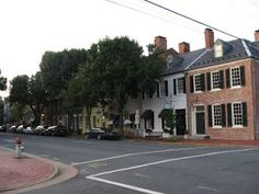 Historic downtown Fredericksburg, Va.