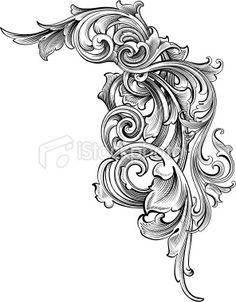 Entangled Scrollwork Royalty Free Stock Vector Art Illustration