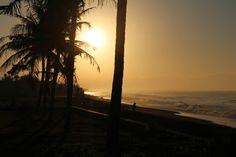 Experimenteren met fotograferen van zonsopgang Bali Villa Sunshine.