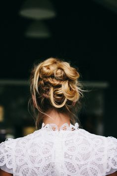 Twisted updo: http://www.stylemepretty.com/washington-weddings/woodinville/2014/09/17/the-hamptons-meets-west-coast-wedding-inspiration/ | Photography: Ivy & Tweed - http://ivyandtweed.com/home