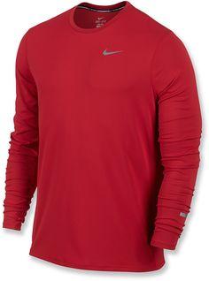 97d4dc8027c Nike Men s Dri-fit Contour Long-Sleeve Running Shirt - Red S. REI