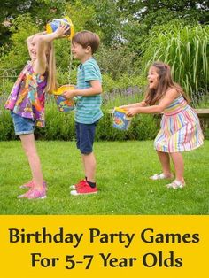 Birthday Party Games For Year Olds - Kids Party Ideas Boy Party Games, Girls Birthday Party Games, Bridal Party Games, Outdoor Party Games, Slumber Party Games, Birthday Activities, Party Activities, Hawaiian Party Games, Mermaid Party Games