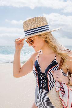 Hat Attack x Lemon Stripes Sunhat | bows & sequins