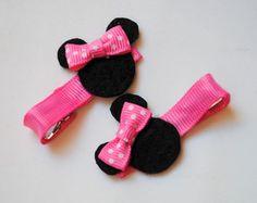 hair clips Minnie