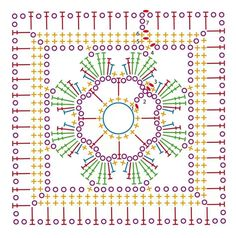 Granny, hexagon, squares... ✭Teresa Restegui http://www.pinterest.com/teretegui/ ✭