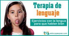 Terapia de lenguaje, ejercicios bucofaciales, Ejercicios con la lengua Speech Therapy Activities, Kids Education, Bingo, Teacher, Exercise, School, Children, Speech Pathology, Activities