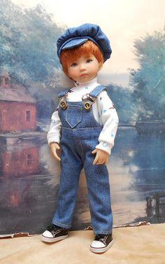 Denim Overalls set to fit 13 Little Darling  boy doll