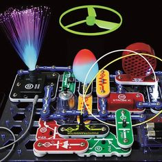 Watch and be amazed at what your music can do with the new Snap Circuits Lights. Connect your iPod or any MP3 player and enjoy your music as the lights change to the beat.
